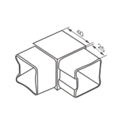 Square 90 Degree Connector For Handrail Tube Vinmayhardware