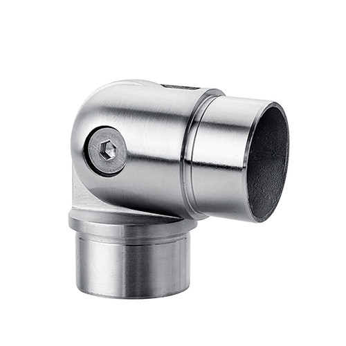 Adjustable tube connector for railing 90 to 180 degree VM2013