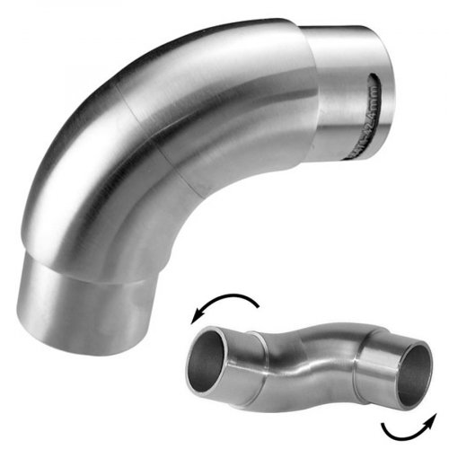 Flexible connector for stainless round handrail VM2006
