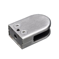 Glass clamp D shape 45x63mm by punching VM3005