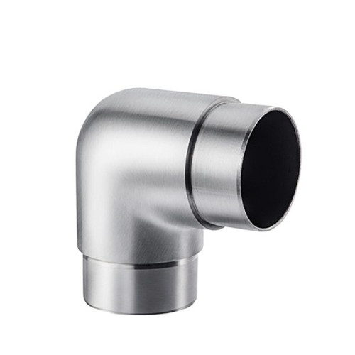 Smooth radius tube connector for round railing 90 degree VM2003