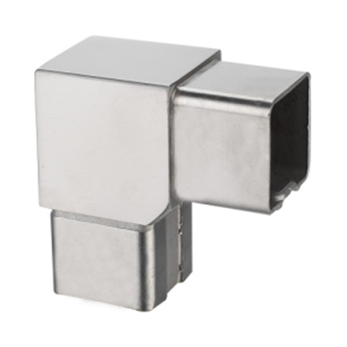 Square degree connector for handrail tube vinmayhardware