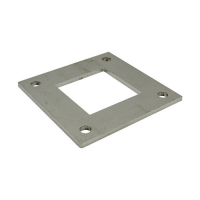 Square base plate for stainless tube vm4009