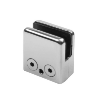 Square glass clamp 45x45mm by punching VM3008