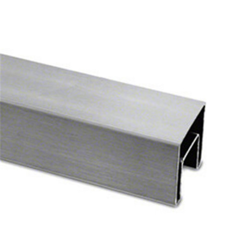 Square slotted tube for glass railing