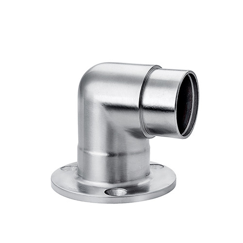 Stainless steel tube flange flat to round railing VM2008