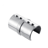 Straight connector for channel handrail tube VM6003