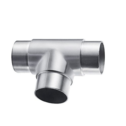 Tee shaped tube connector for modular handrail system VM2010