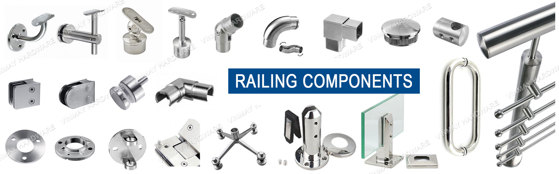 full range of stainless railing fittings